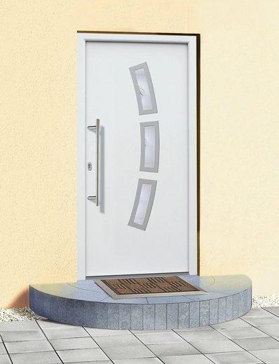 KM MEETH ZAUN GMBH Aluminium-Haustür »A07«, BxH: 98x208 cm, weiß, in 2 Varianten