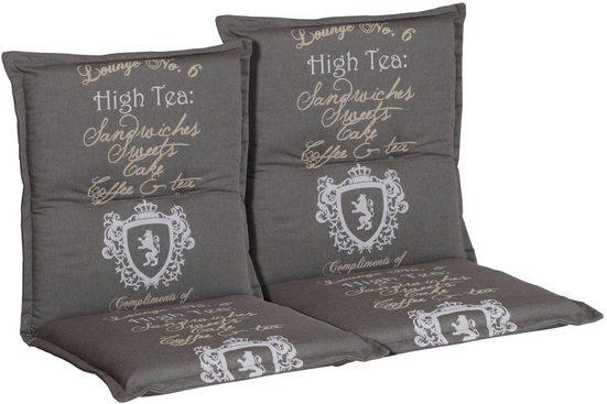 Go-De Sesselauflage »High Tea«, (L/B): ca. 100x50 cm