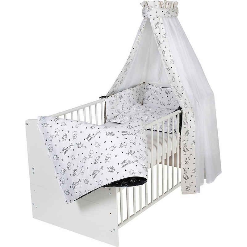 Bettbezug »Bettset Origami Beige, 4-teilig, Himmel mit Voile,«, Schardt