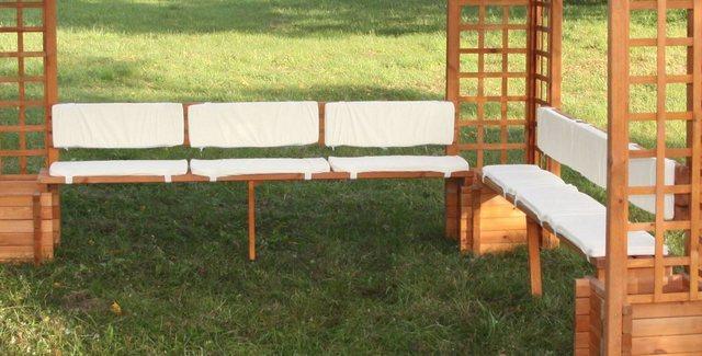 Promadino Sitz- & Rückenauflagen Beige für Pavillon Mindelheim