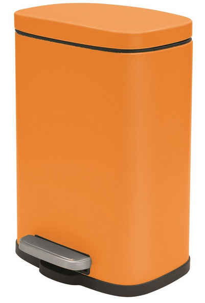 spirella Kosmetikeimer »AKIRA«, Treteimer mit Softclose-Absenkautomatik, herausnehmbarem Inneneimer, Anti-Fingerprint-Beschichtung, 5L, orange