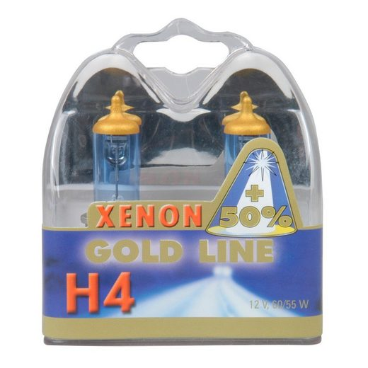 Set: Halogenlampen »H4 Xenon Gold 12V, 60/55W«
