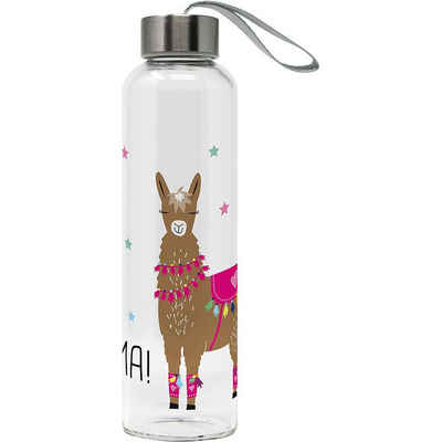 """PPD Trinkflasche »Glas-Trinkflasche """"Tropical Flamingo"""" 0,55l mit«"""