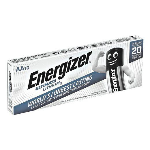 Energizer »Ultimate Lithium« Batterie, (10 St), AA, mit langer Lebensdauer