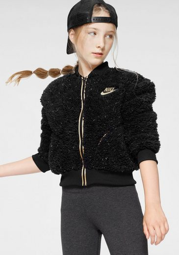 Nike Sportswear Plüschjacke »GIRLS SHERPA SHINE FULLZIP BOMBER«