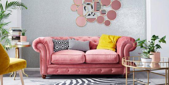 Max Winzer® Chesterfield-Sofa »Old England«, im Retrolook, Breite 192 cm