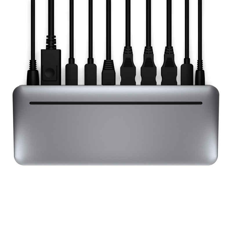 BRYDGE Laptop-Dockingstation »Stone Pro Multiport-Hub, Thunderbolt-3, 87 W, zwei Displays (4 K bei 60 Hz), DisplayPort, USB-C 3.1 Gen 2, USB-A und mehr, für MacOS und Windows, space grau«