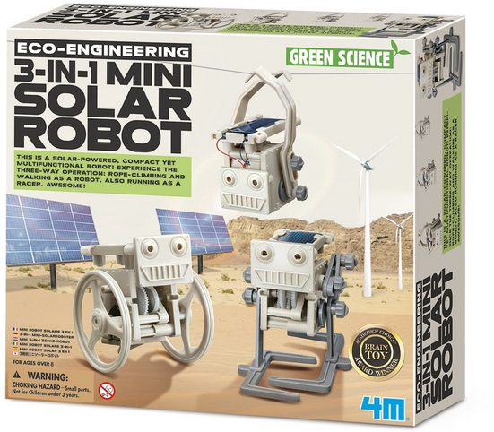 4M Experimentierkasten »Green Science - 3in1 Mini Solarroboter«