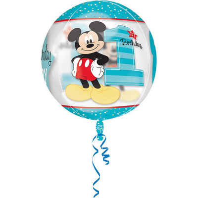Amscan Folienballon »Folienballon Orbz Micky Mouse - 1st Birthday«