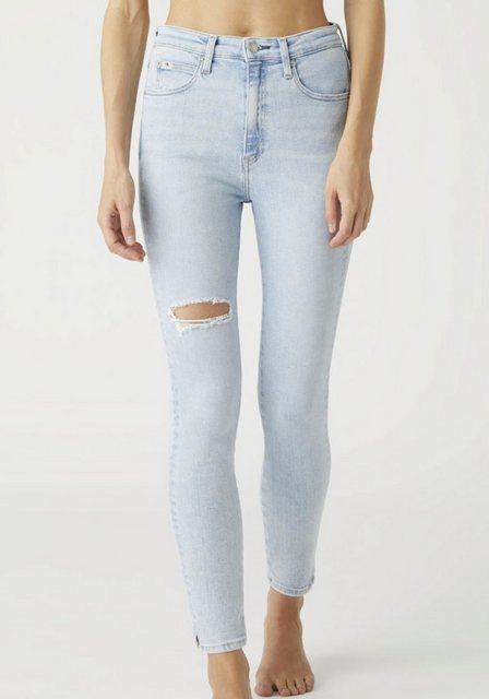 Hosen - Calvin Klein Jeans Skinny fit Jeans »HIGH RISE SKINNY ANKLE« mit Destroyec Effekt auf dem Oberschenkel ›  - Onlineshop OTTO