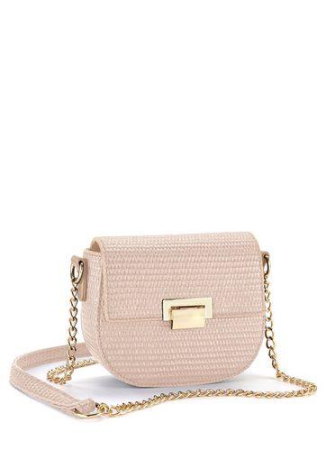 LASCANA Umhängetasche, Minibag mit toller Prägung