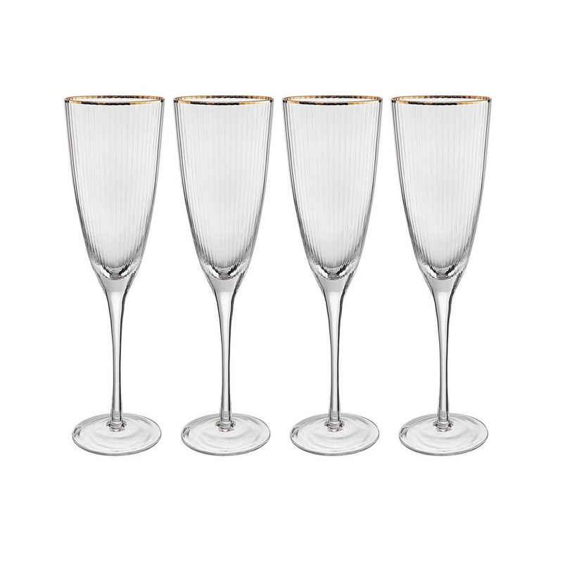 BUTLERS Champagnerglas »GOLDEN TWENTIES«, Glas, mundgeblasen