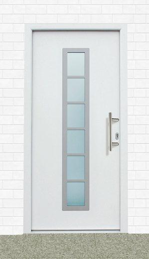 KM MEETH ZAUN GMBH Aluminium-Haustür »A04«, BxH: 98x198 cm, weiß, in 2 Varianten