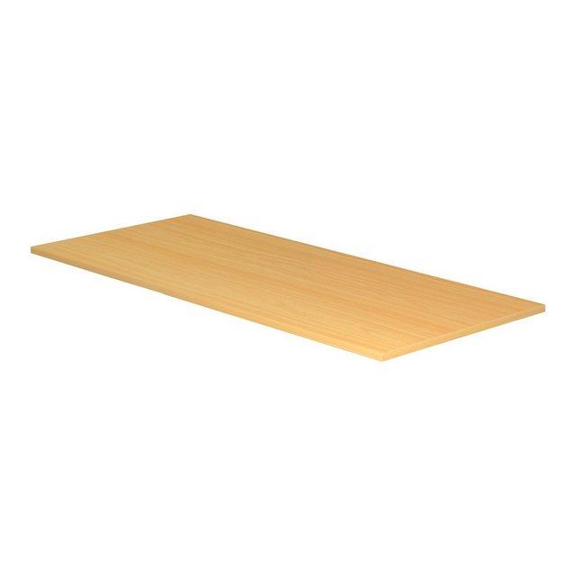 bümö Tischelement »OM-PL19«| Schreibtischplatte DIY Tischplatte - Rechteck: 180x80 cm - Dekor: Buche | Büro > Bürotische > Bürotische-Zubehör | bümö