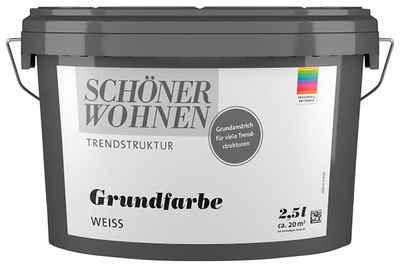 SCHÖNER WOHNEN-Kollektion Grundierfarbe »Wisch-Optik Grundfarbe«, weiss, glatt, 2,5 l