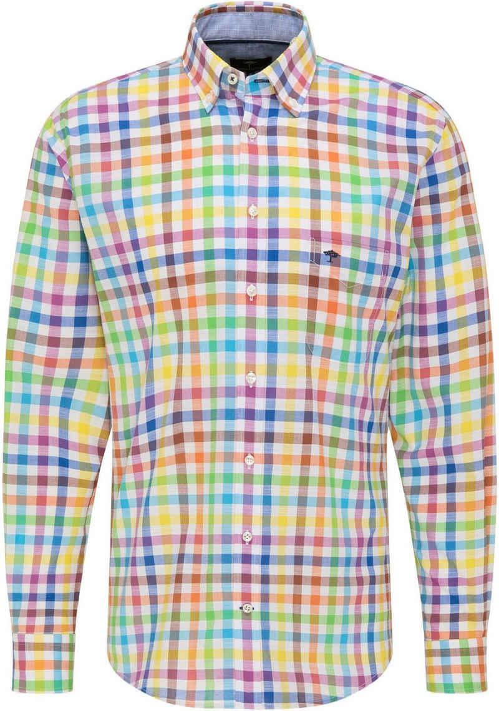 FYNCH-HATTON Langarmhemd mit kleiner Logostickerei