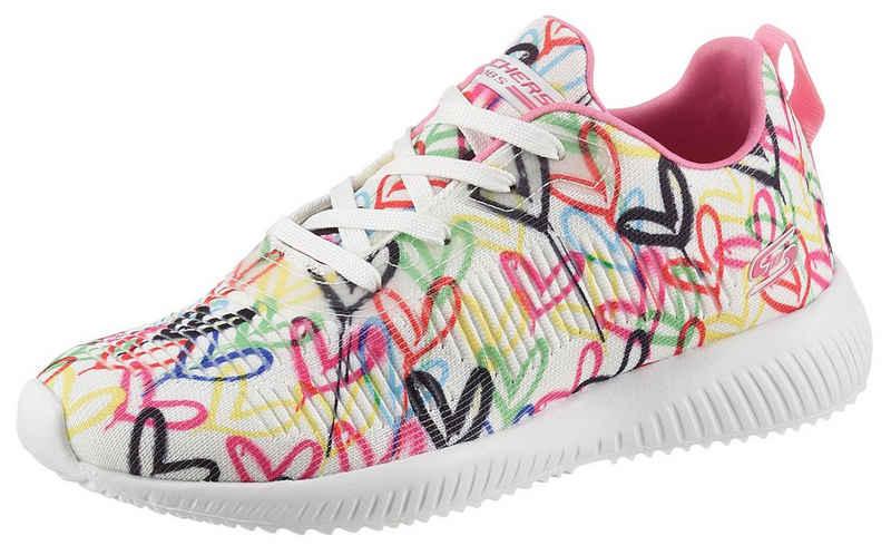 Skechers »BOBS SQUAD« Sneaker mit Allover-Herzchenprint