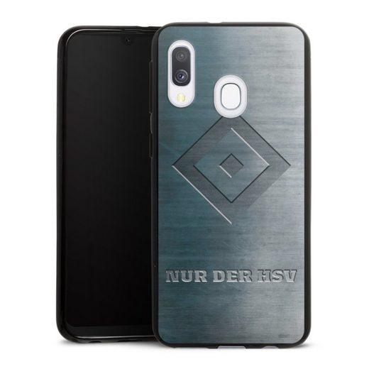 DeinDesign Handyhülle »Nur der HSV Metalllook« Samsung Galaxy A40, Hülle HSV Hamburger SV Metallic Look