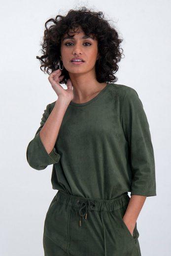Garcia T-Shirt aus Suedine Stoff