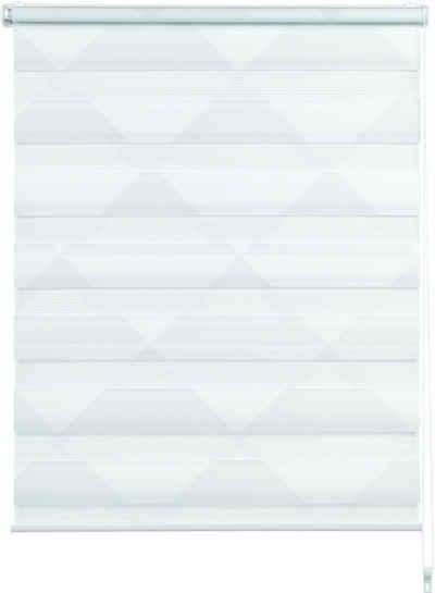 Doppelrollo »EASYFIX Duo Rollo Triangle«, GARDINIA, Lichtschutz, ohne Bohren, im Fixmaß
