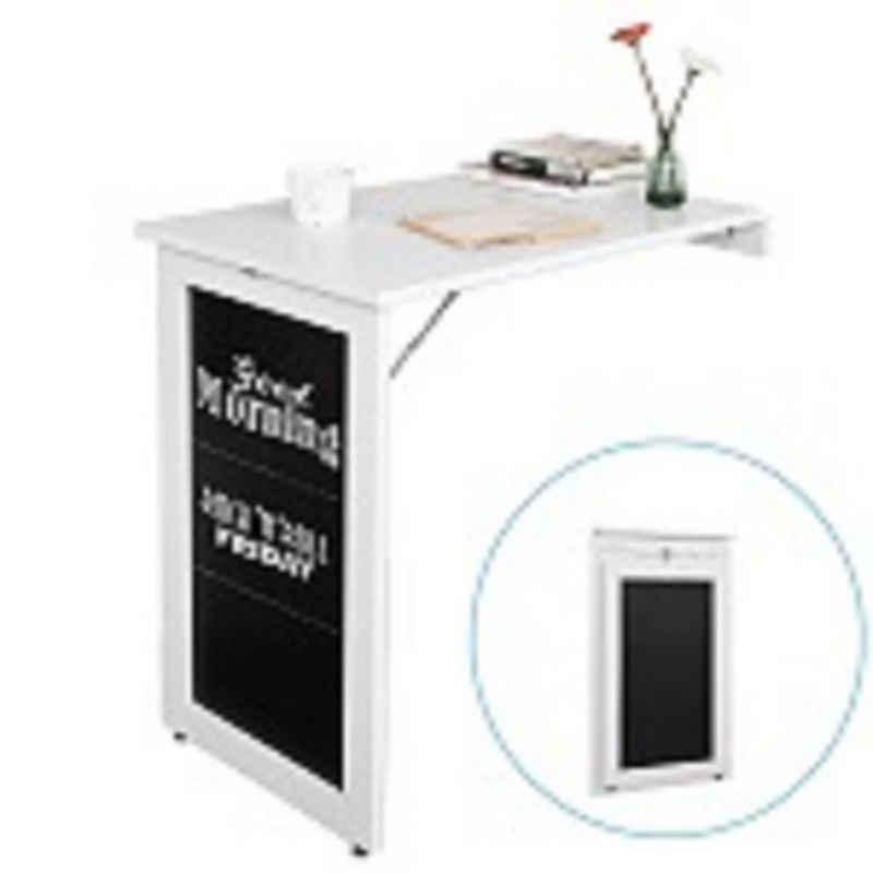SoBuy Klapptisch »FWT20«, Wandtisch in weiß mit Tafel Esstisch Küchentisch Memoboard
