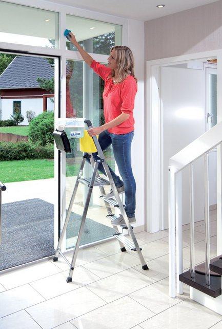 Krause Secury Stufen-Stehleiter 4 Stufen mit MultiGrip-System