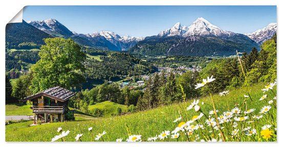 Artland Wandbild »Landschaft in den Bayerischen Alpen«, Berge (1 Stück), in vielen Größen & Produktarten - Alubild / Outdoorbild für den Außenbereich, Leinwandbild, Poster, Wandaufkleber / Wandtattoo auch für Badezimmer geeignet