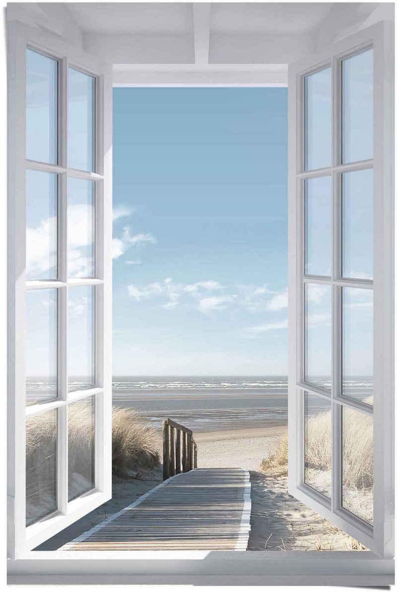 Reinders! Poster »Poster Fensterblick Nordsee«, Meer (1 Stück)
