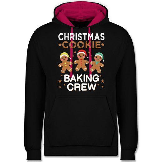 Shirtracer Hoodie »Christmas Cookie Baking Crew - 3 Kekse - Unisex Damen & Herren Kontrast Hoodie«