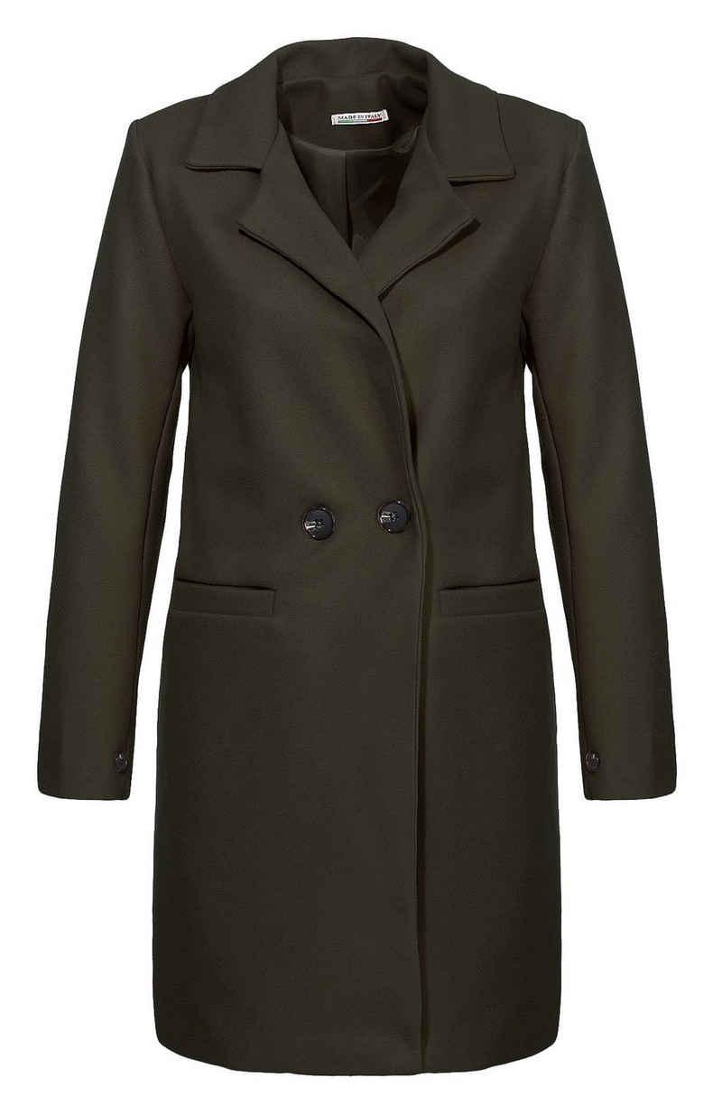 malito more than fashion Trenchcoat »19691« mit zweireihigem Knopfverschluss vorne