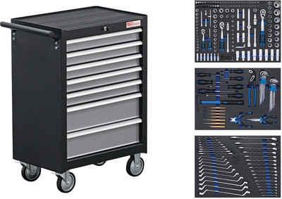 BGS Werkstattwagen, befüllt, 263-tlg. Werkzeugset, (263-tlg), 7 Schubladen