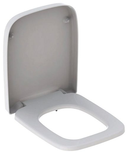 GEBERIT WC-Sitz »RENOVA Nr. 1 PLAN«, Befestigung von oben, weiß, mit Absenkautomatik