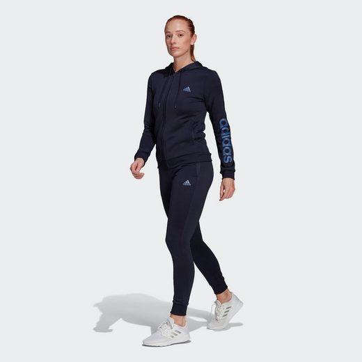 adidas Performance Trainingsanzug »ESSENTIALS LOGO FRENCH TERRY« (Set, 2-tlg)