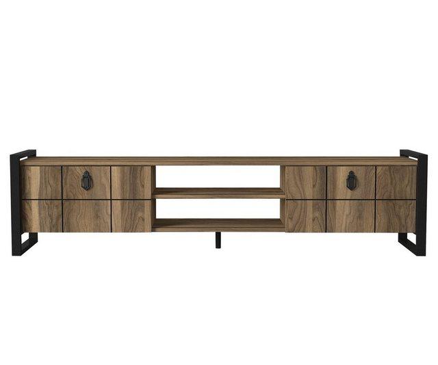 Küchenregale - moebel17 TV Regal »TV Lowboard Lost mit Metallfüße Walnuss«  - Onlineshop OTTO