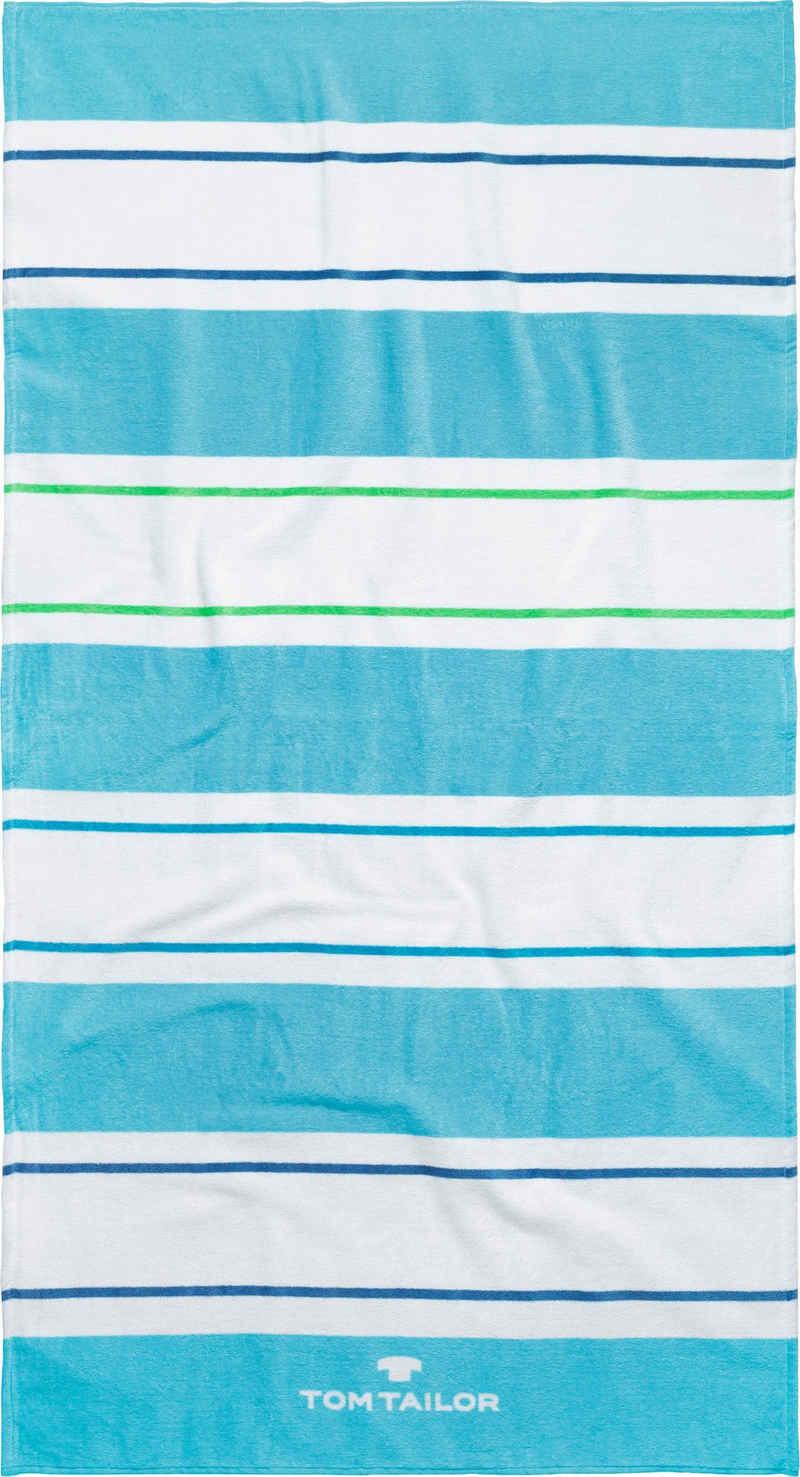TOM TAILOR Strandtuch »Streifen« (1-St), mit unterschiedlichen Streifen