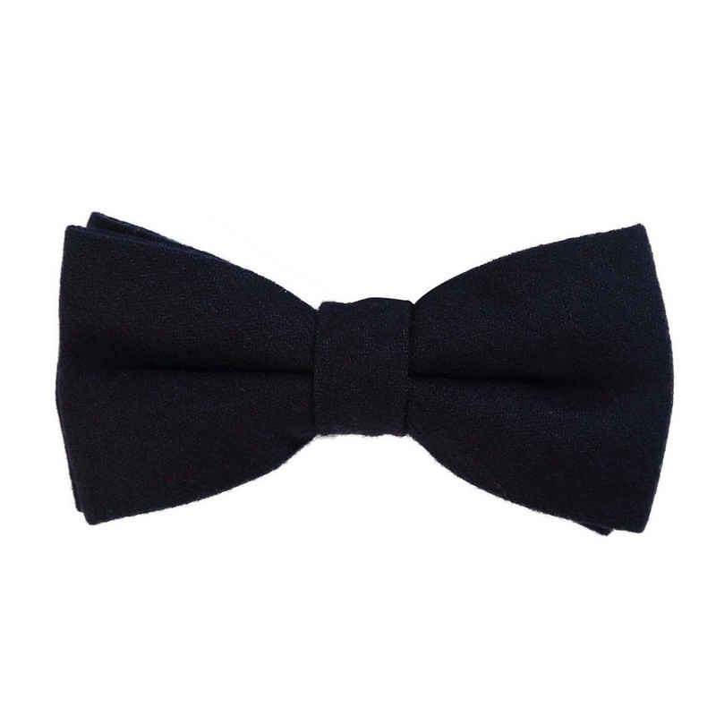 DonDon Fliege »DonDon Herren Fliege 12 x 6 cm Baumwolle« (1-St) bereits gebunden, verstellbar, Tweedlook