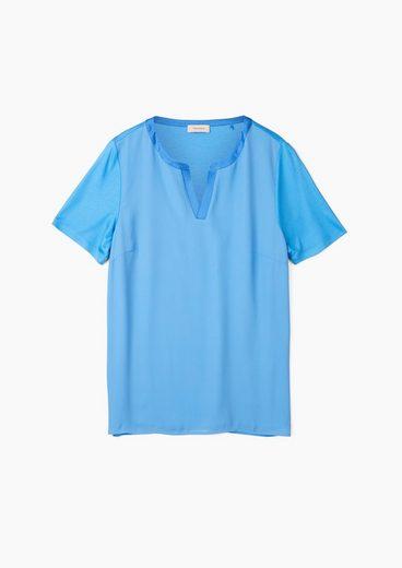 TRIANGLE Kurzarmbluse »Blusenshirt mit Chiffon-Layering« Layering