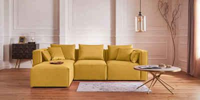Guido Maria Kretschmer Home&Living Ottomane »Marble«, Modul-Ottomane zur indiviuellen Zusammenstellung eines perfekten Sofas, in 3 Bezugsvarianten und vielen Farben