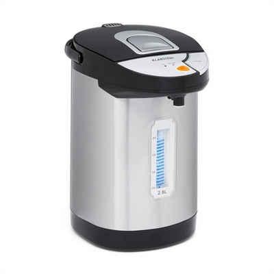 Klarstein Wasserkocher Hot Spring Heißwasserspender 2,8l Edelstahl-Wassertank silber, 0 l, 900 W