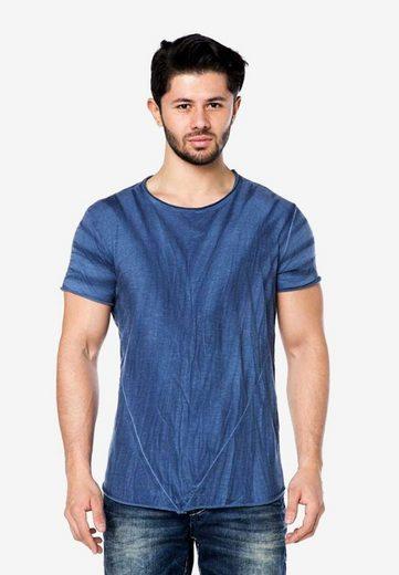 Cipo & Baxx T-Shirt in cooler Falten-Optik