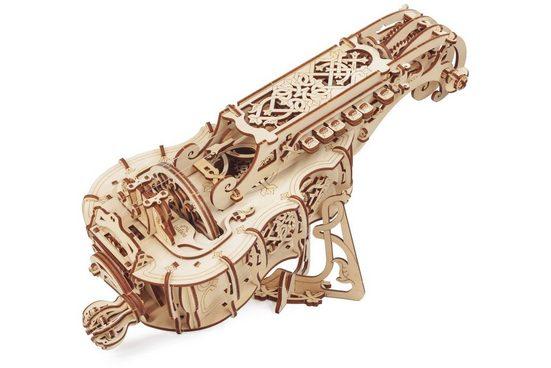 UGEARS 3D-Puzzle »UGEARS Holz 3D-Puzzle Modellbausatz HURDY-GURDY Drehleier«, 292 Puzzleteile