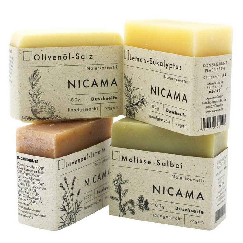 NICAMA Gesichtsseife »Duschseifen-Set - je eine Duftrichtung«, 4-tlg.