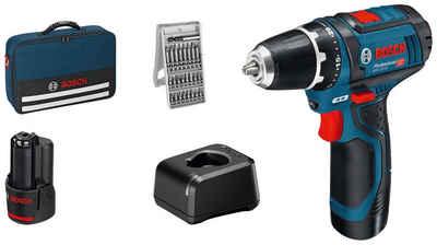 Bosch Professional Akku-Schrauber »GSR 12V-15 Professional«, mit 2 Akkus und Ladegerät