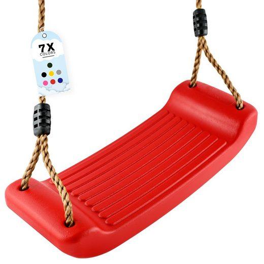 GO!elements Einzelschaukel »Sky Stormer«, Schaukel Garten - Kinderschaukel Outdoor Indoor - Schaukelsitz Schaukelbrett Brettschaukel für Kinder zum Schaukeln - Höhenverstellbar - Rutschfest