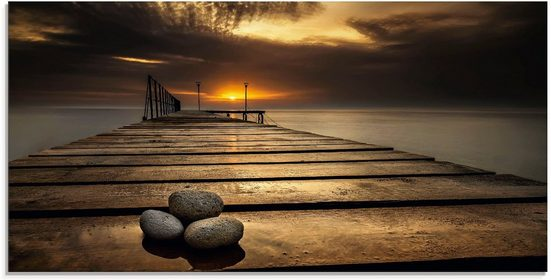 Artland Glasbild »Sonnenaufgang am Schwarzen Meer«, Sonnenaufgang & -untergang (1 Stück)