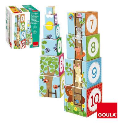 Goula Würfelpuzzle »GOULA Stapelturm Wald«, Puzzleteile