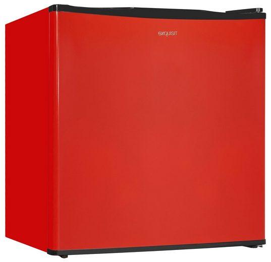 exquisit Kühlschrank KB05-V-151F rot, 51 cm hoch, 45 cm breit
