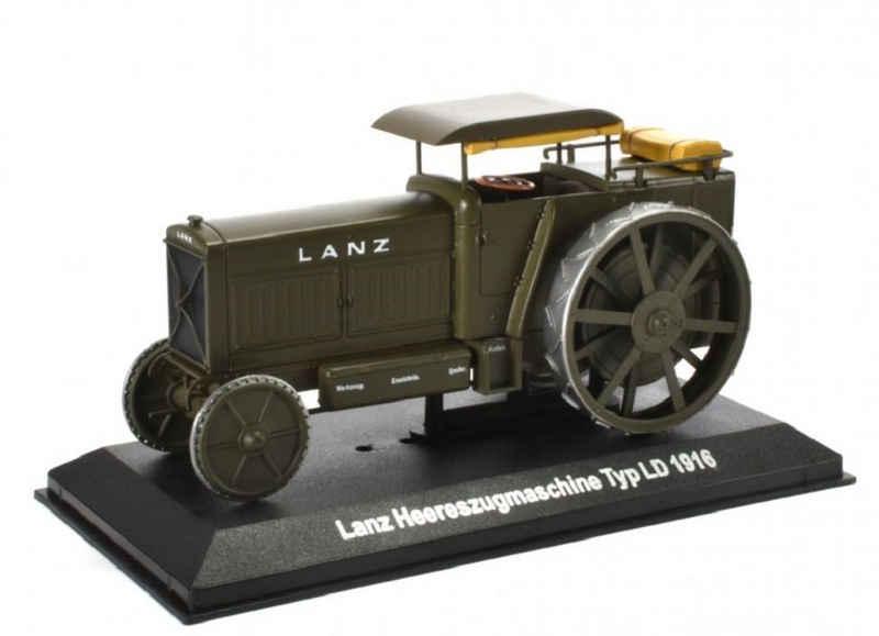 Editions Atlas Modelltraktor »Historischer Traktor 1916 Lanz Heereszugmaschine Typ LD grün 1:43 by IXO for Hachette Metall Kunststoff«, Maßstab 1:43