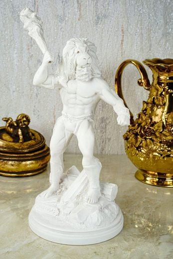 Kremers Schatzkiste Dekofigur »Alabaster Figur Hercules Sohn des zeus Skulptur 28 cm weiß Glück«