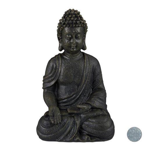 relaxdays Buddhafigur »Buddha Figur sitzend 30 cm«
